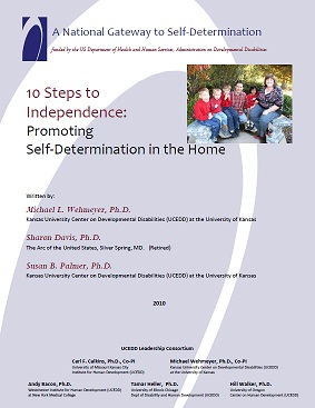 Cover of 10 Steps to Independence: Promoting Self-Determination in the Home