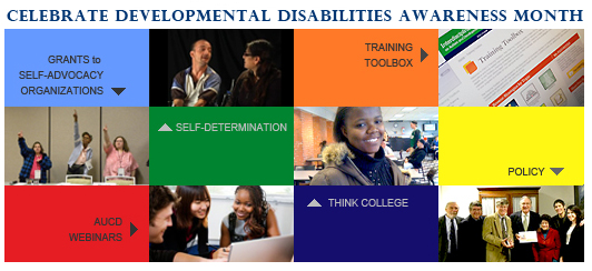 AUCD Celebrates March as Developmental Disabilities Month