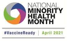 National minority health month with colorful circle