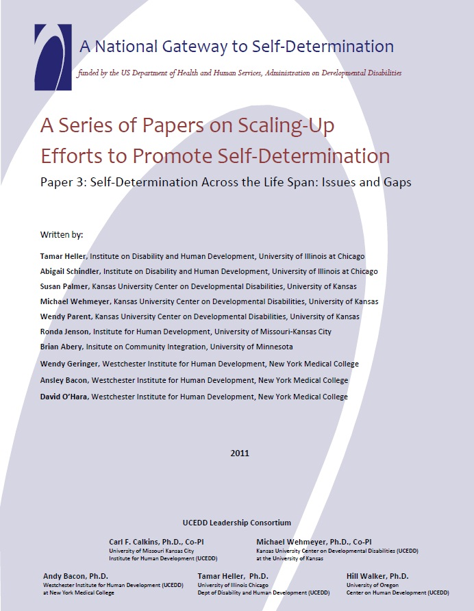A Series of Papers on Scaling-Up Efforts to Promote Self-Determination - Paper 3