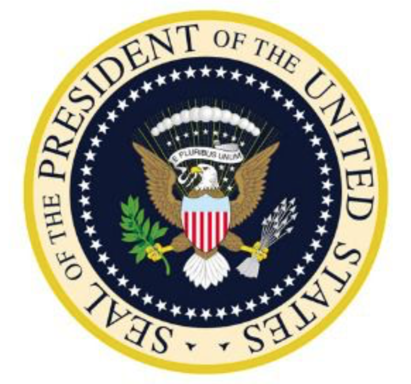 seal of the president of the United States, color