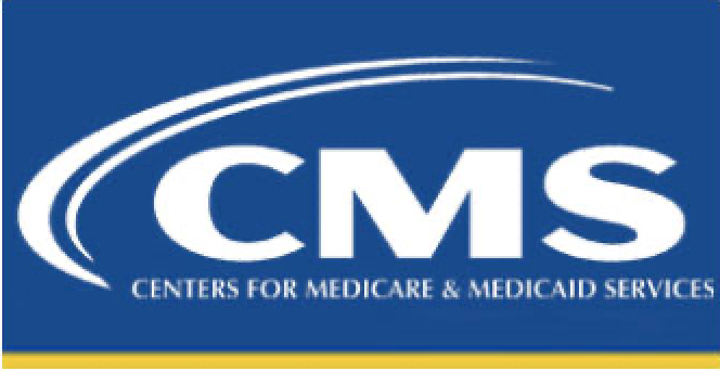 blue and yellow logo for Centers for Medicare and Medicaid Services
