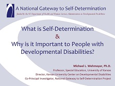 Cover of What is Self-Determination and Why is it Important to People with Disabilities?