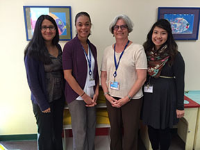Photo ofCurrent TACERN CA-LEND team, including (left to right): Juana Vaquero, PhD, Kristen Joyner, PsyD, Marian Williams, PhD, & Jenna Ouye, PhD