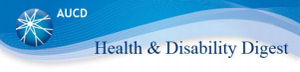 AUCD Health & Disability Digest banner