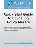 Quick Start Guide to Educating Policy Makers