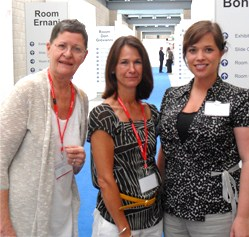 Irene Forsman, Diane Sabo, and Katy Beggs at Newborn Hearing Screening (NHS) Conference in Cernobbio, Italy