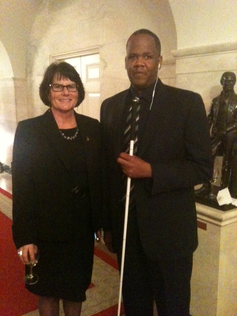 Julie Fodor with Kareem Dale, Office of Public Engagement, at the White House