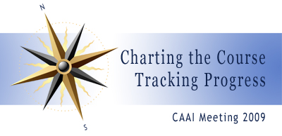 Meeting Logo: Charting the Course, Traching Progress