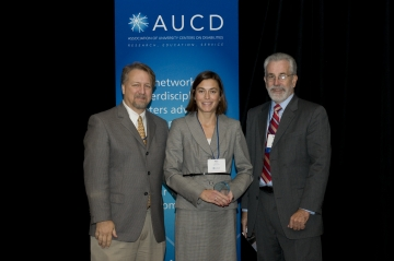 Melissa Bellin, PhD, of the Partnership for People with Disabilities, Virginia Commonwealth University recieved the 2008 Young Professional Award at the Association of University Centers on Disabilities (AUCD) Annual Meeting and Conference.