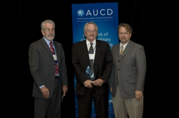 Hill Walker, PhD, of the Center on Human Development, University of Oregon, recieved the 2008 Distinguished Achievement Award today at the Association of University Centers on Disabilities (AUCD) Annual Meeting and Conference.