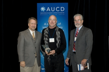 Stephen Gilson, PhD, of the Center for Community Inclusion & Disability Studies, University of Maine received the 2008 Multicultural Council Award for Leadership in Diversity at the Association of University Centers on Disabilities (AUCD) Annual Meeting and Conference.