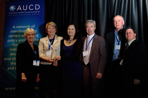 Members of the Westchester Institute for Human Development accept the 2010 AUCD Council on Community Advocacy Award