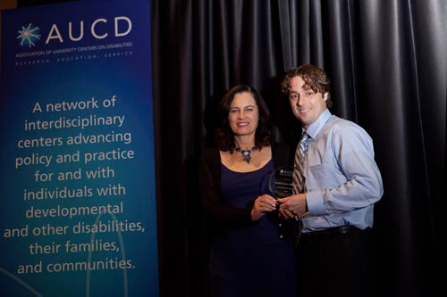 Derek Nord accepts the 2010 AUCD Young Professional Award
