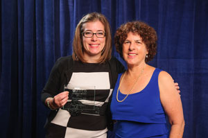Award recipient Emily Johnson with AUCD Board President Leslie Cohen