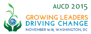 AUCD 2015 Conference Logo vertical option, online usage, low resolution