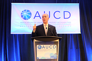 Senator Casey speaking at the AUCD 2016 Conference