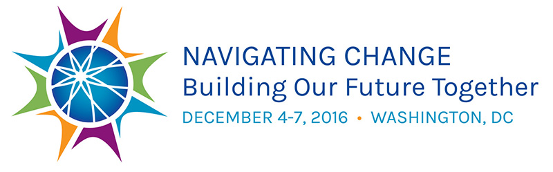 conference logo: navigating change building our future together