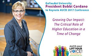 Gallaudet President Bobbi Cordano to Keynote AUCD 2017