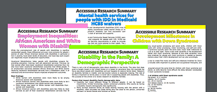 IDHD Accessible Research Summary Brief Series (IL UCEDD/LEND)