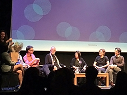 Stephen Gilson and Elizabeth DePoy (center) among the panelists at the inaugural Designable 2016 event in Kings Cross, London.