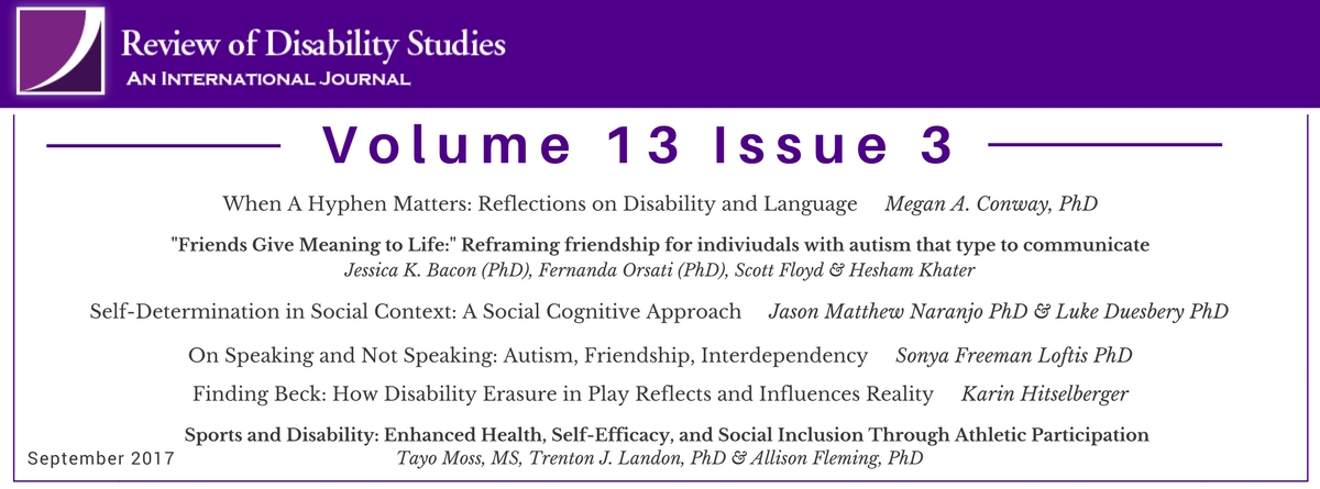 AUCD - New Release - #RDSJ Volume 13 Issue 3 of Review of
