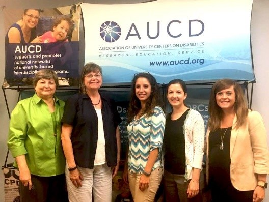 AUCD staff standing with with Nutrition ambassadors.