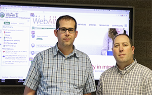Photo: Jonathan Whiting and Jared Smith, WebAIM's WAVE development team.