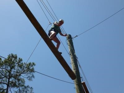 The IDS Aventure Therapy program features an elevated ropes course.