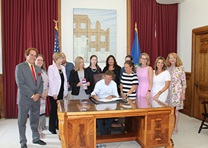CT LEND Students Sign Bill with CT Governor to Enhance Communication Between First Responders and Children and Adults with Disabilities