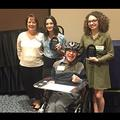 Disability Studies Minor Leaders, Katherine Mahosky and Matthew Wangerman at the 2017 Diversity Banquet with recipients of the Leadership Award Kaitlyn Roy (right) and Desiree Bruno (left).