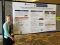 Picture of NCDPH's poster presentation with Sara Lyons from NACCHO, at NACCHO's annual conference in July 2019 in Orlando, FL