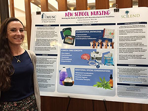 An SC LEND trainee and practicing nurse presented on information related to providing specialized training for school nurses working with students with disabilities.