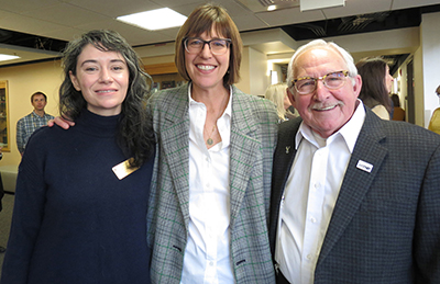 (L to R): Elizabeth Cantalamessa, 2019 WIND Distinguished Alum; Dr. Michelle Jarman, Assoc. Professor and Director of Disability Studies; Dr. Keith A. Miller, Emeritus Professor and WIND founding Director