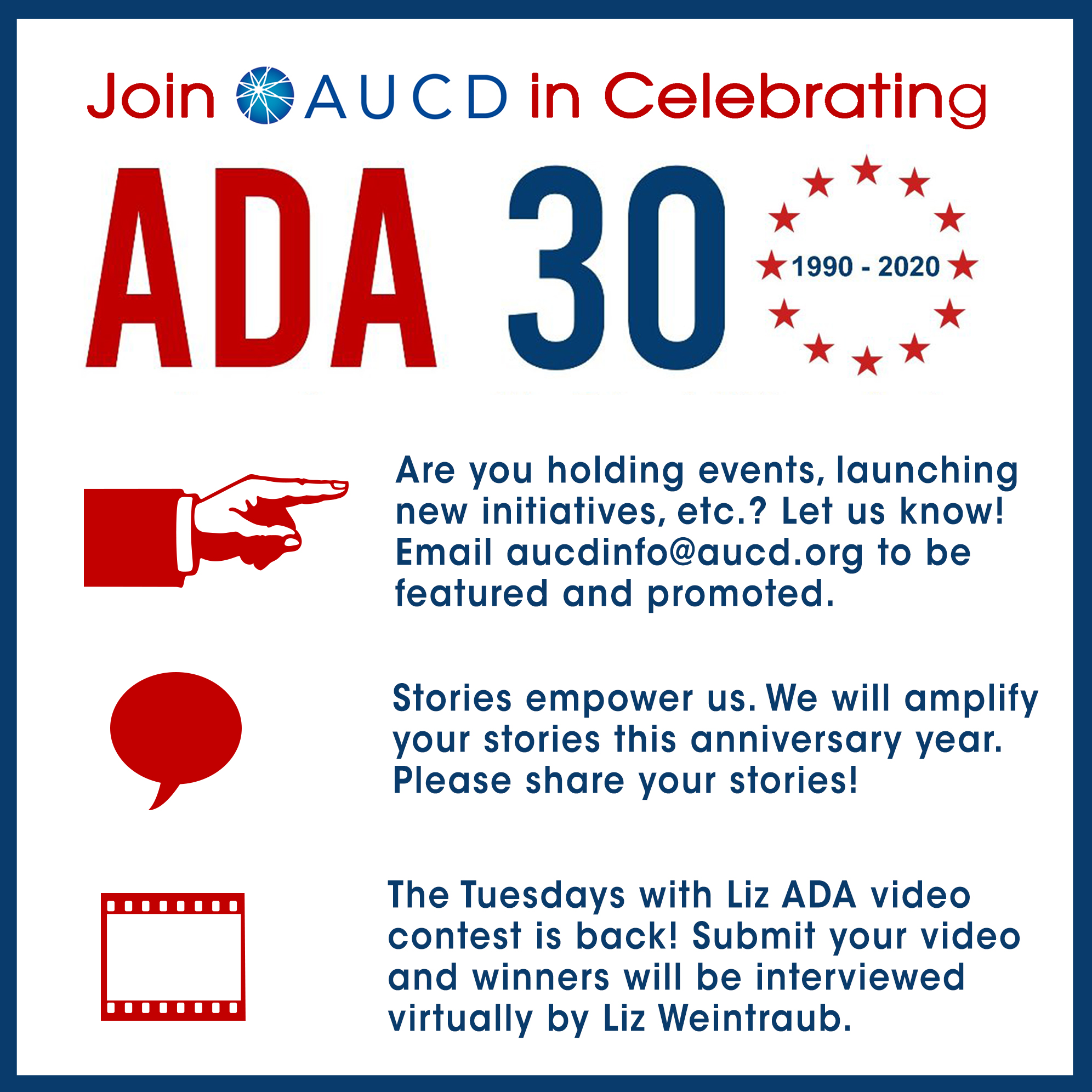 Celebrate the 30th Anniversary of the Americans with Disabilities Act with AUCD