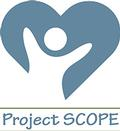Project SCOPE logo: A person silhouette inside of a heart