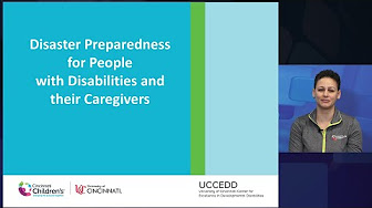 Disaster Preparedness for People with Disabilities and their Caregivers