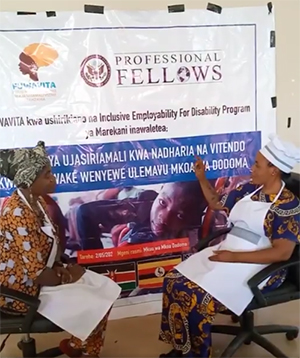 PFP-IDE Alum Aneth Gerana Trains Women with Disabilities to Become Independent Business Leaders