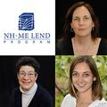 NH-ME LEND logo, Rylin Rodgers, Liz Weintraub and Lauren Blachowiak