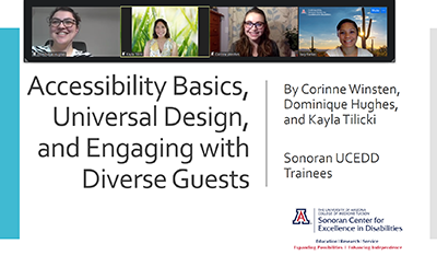 The Experts in the Room: Sonoran UCEDD students train Reid Park Zoo staff on accessibility, inclusion