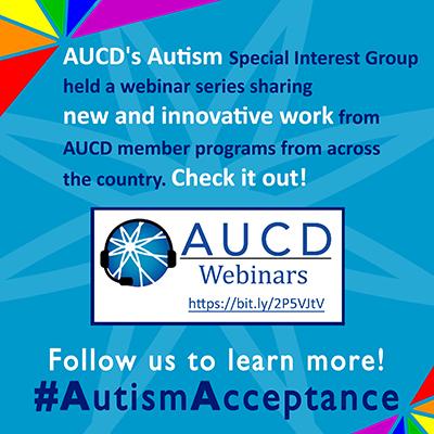Autism SIG Winter Webinar Series