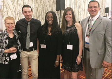 Pictured from right to left: Dr. Matthew Holder (President of AADMD), Michelle Franklin, Pamela Smith, Justin Gentry, and Dr. Nancy Dougherty