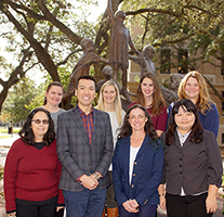 Pictured in front: Dr. Cynthia Riccio, Dr. Jeffrey Liew, Dr. Jennifer Ganz, Ching-Yi Liao, April Haas Back Row: Kimberly Williams, Shannon Clark, Kaitlyn Stein, Sarah Ura