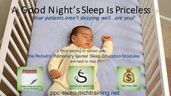 New Pediatric Sleep Education Modules - Developed by the Pediatric Pulmonary Centers
