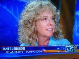Janet Jendron, SCATP, interviewed on WIS TV-10, Columbia, SC