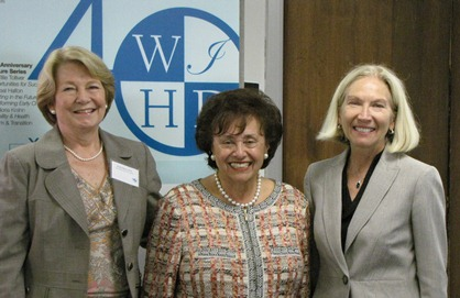 Ansley Bacon, PhD, President and CEO (and UCEDD Director), WIHD; Congresswoman Nita Lowey; Gloria Krahn, PhD, MPH