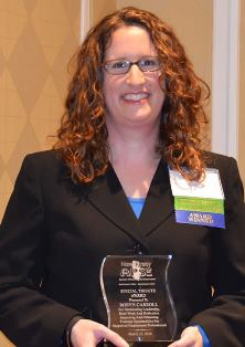 Robyn Carroll Honored with NJ APSE Special Tribute Award (NJ UCEDD)