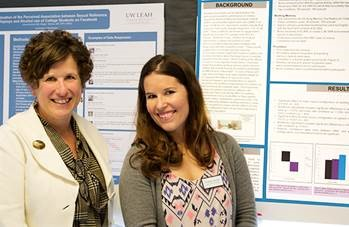 Dr. Ellen Davis and Christina Carrano, Au.D. candidate and LEND fellow, at the 2015 UW LEND Leadership Presentations.