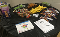 Snack table at NIFE AR Live Healthy event