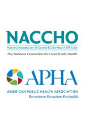 NACCHO Logo image and APHA Logo image